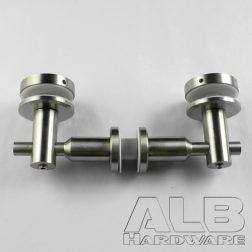 stainless steel glass handrail brackets 120-180 5922