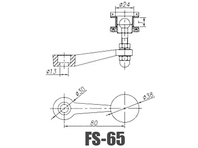 Stainless Steel Glass Handrail Brackets FS-65-Dimension
