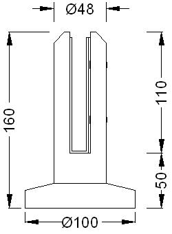 Glass-Fence-Spigot-H12-Dimension