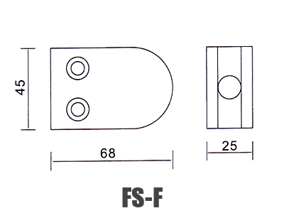 stainless-steel-glass-handrail-clamp FS-F dimension