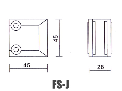 stainless-steel-glass-handrail-clamp FS-J dimension